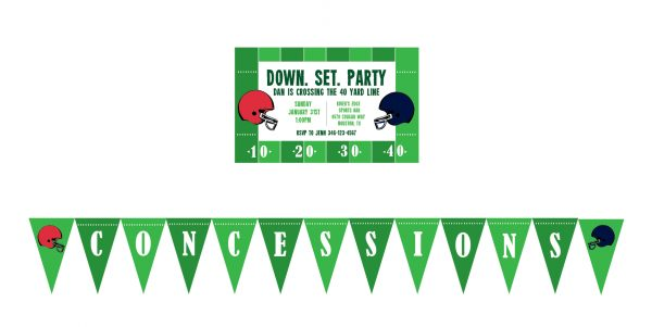 Football Party Invitation (Superbowl Party Invitation)