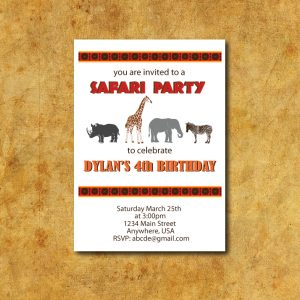 Safari Party Invitation- Zoo Party Invitation