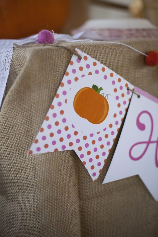Lil' Pumpkin Birthday Party Invitation- Horizonal