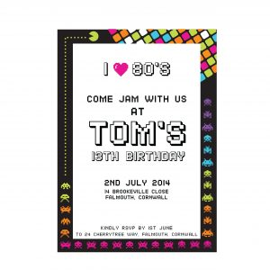 '80's Neon Party Invitation