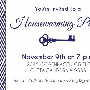 Housewarming Party- Navy