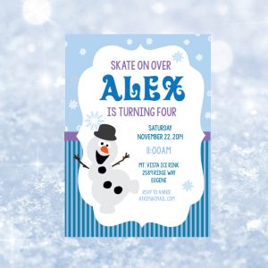 Snowman Birthday Party Invitation