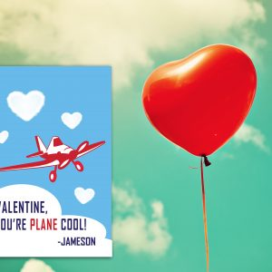 """You're PLANE Cool"" Valentine's Day Card"