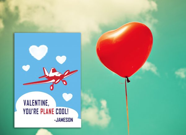 """""""You're PLANE Cool"""" Valentine's Day Card"""