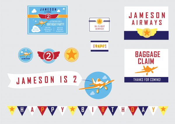 Planes Theme Birthday Party Package
