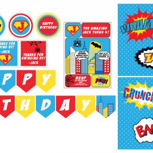 Comic Superheroes Birthday Party Package