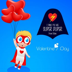 """I Think You are Super Duper"" Cape Valentine's Day Tags"