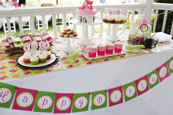 Fairy Birthday Party Package- Pink/Green/Yellow
