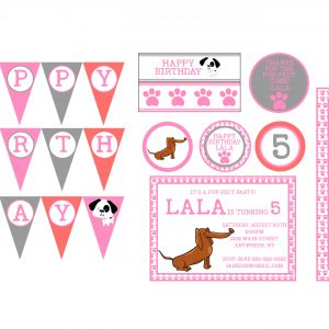 Cute Puppy Birthday Party Package