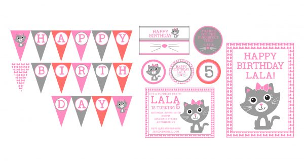 Purr-fect Kitty Birthday Party Package