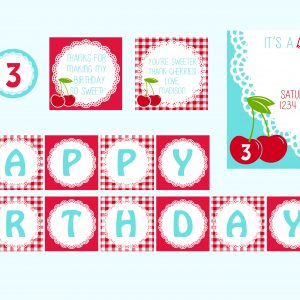 Sweet Cherries Birthday Party Theme