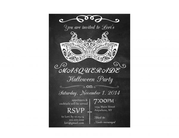 halloween invitation masquerade invitation
