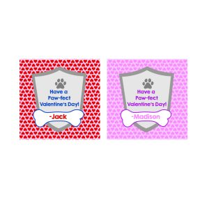 Paw Patrol Valentine's Day Exchange Cards