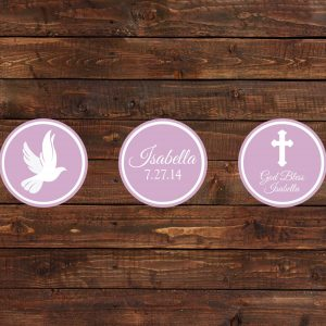 Pink Dove Cupcake Toppers