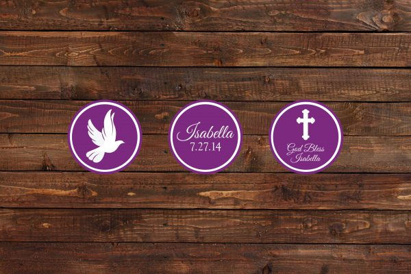 Purple Dove Cupcake Toppers