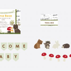 Woodland Animals Baby Shower Package