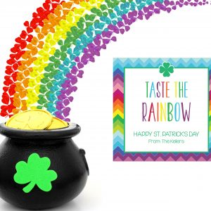 """""""Taste the Rainbow"""" St Patrick's Day Tags- Square"""