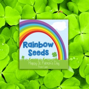 """""""Rainbow Seeds"""" St Patrick's Day Gift Tags"""