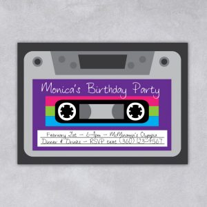 80's Party Invitation (Mixed Tape)
