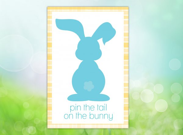 Pin the Tail on the Bunny Poster