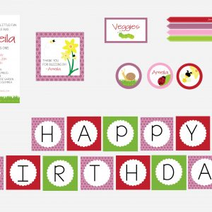 Spring Garden Birthday Party Package