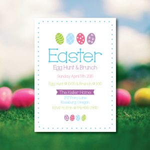 Easter Brunch Invitation- Easter Egg Hunt Invitation