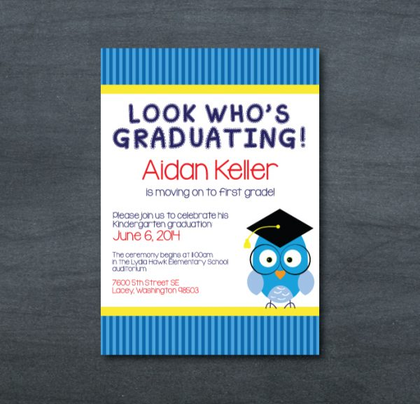 Graduation Invitation (Owl)