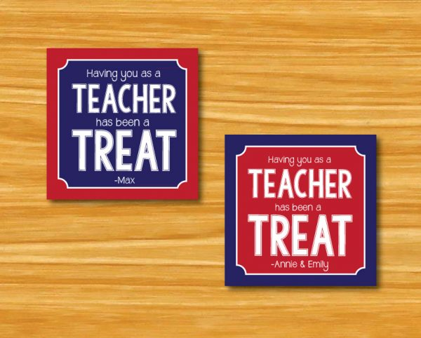 """Having You as a Teacher Has Been a Treat"" Gift Tags"