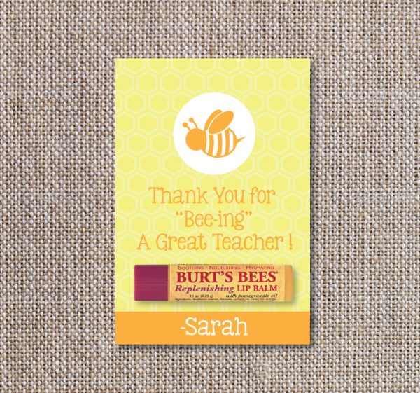 """Thank you for Bee-ing a Great Teacher"" Gift Tags"