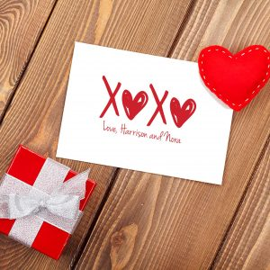 Personalized XOXO Gift Enclosure Card