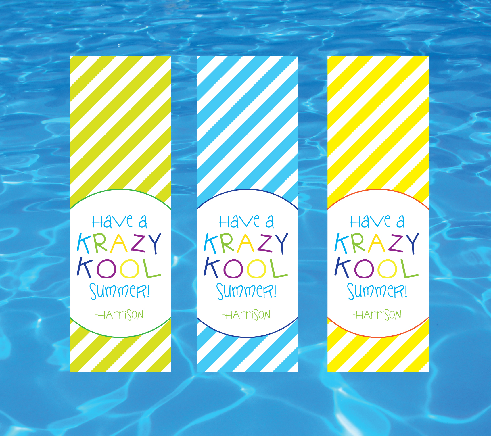 Have A Krazy Kool Summer Gift Tags Crowning Details