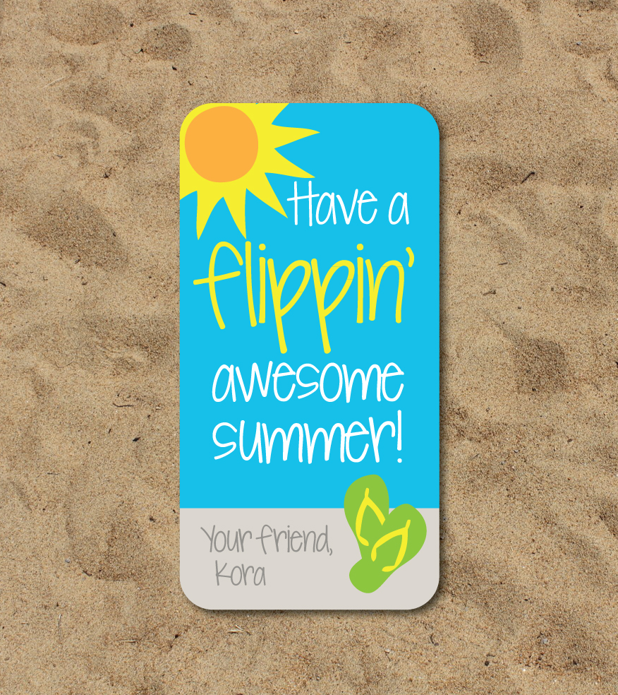 Have A Flippin Awesome Summer Gift Tags Crowning Details