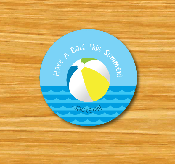 """Have a Ball This Summer"" Gift Tags"