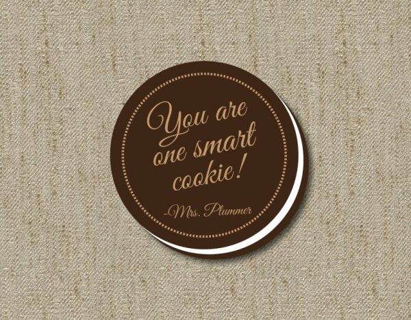 """You are One Smart Cookie"" End of Year Gift Tags"