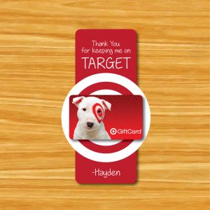 """Thanks for Keeping me on Target"" Teacher Gift Tags"