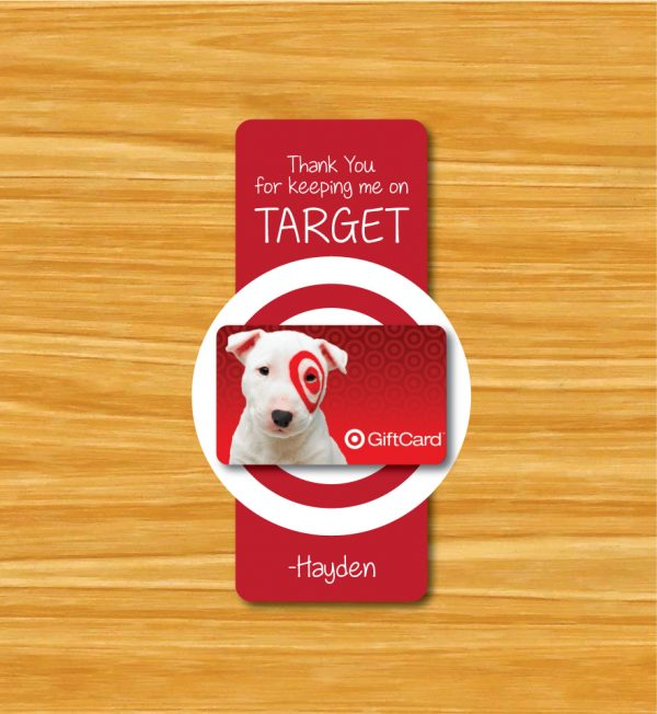 """""""Thanks for Keeping me on Target"""" Teacher Gift Tags"""