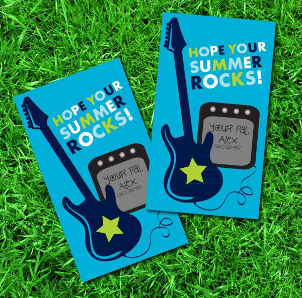 """Hope Your Summer Rocks"" Gift Tags"