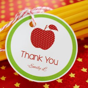 Apple Theme Teacher Thank You Tags