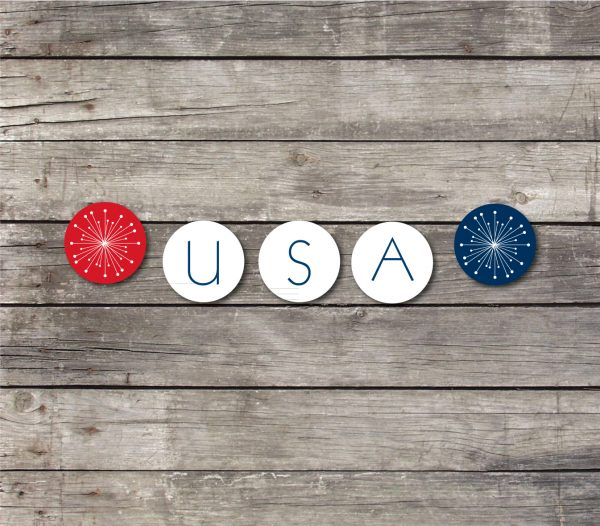 USA 4th of July Bunting Banner