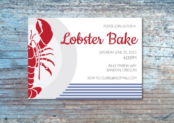 Lobster Bake Invitation