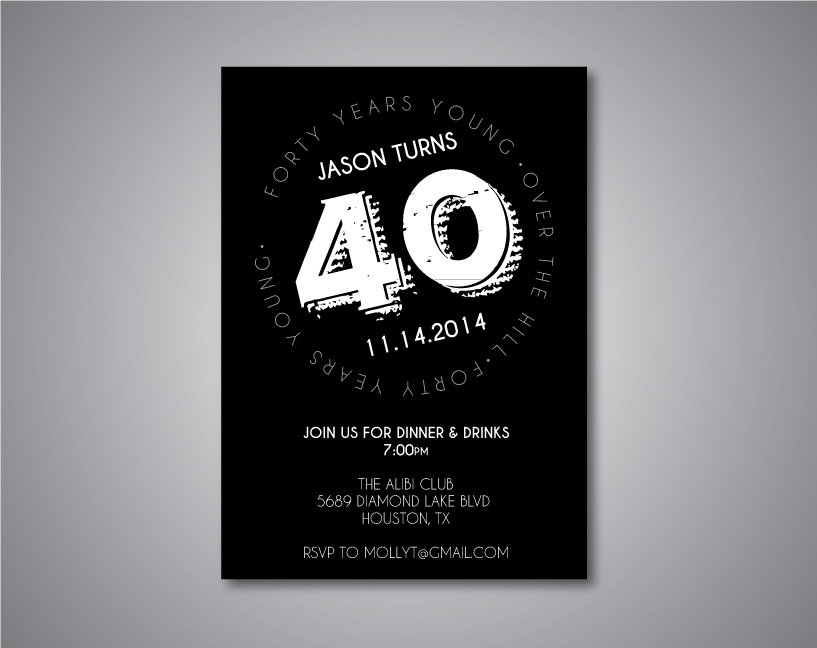 40th Birthday Party Invitation - Crowning Details
