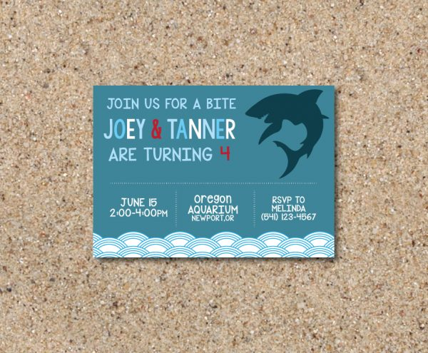 Shark Birthday Party Invitation