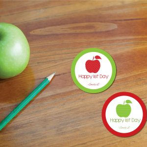 Happy 1st Day Tags- Back to School Apple Gift Tags