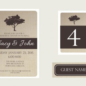 Rustic Tree Rehearsal Dinner Package
