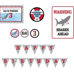Shark Theme Birthday Party Package