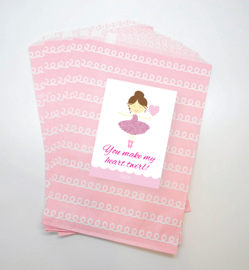 You Make my Heart Twirl Valentines- Ballerina Valentines