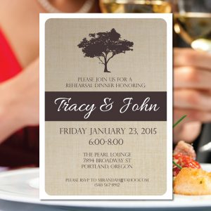 Rustic Tree Rehearsal Dinner Invitation