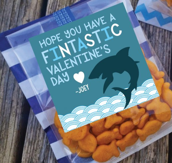 Hope you Have a Fintastic Valentine's Day- Shark Theme Valentines
