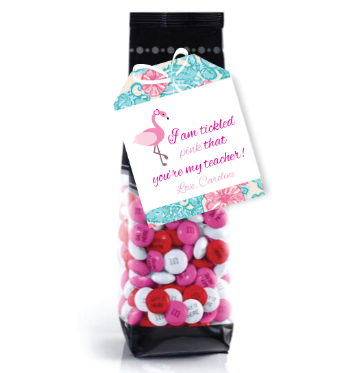 I'mt Tickled Pink That You're My Teacher Valentine- Flamingo Valentine- Teacher Valentine