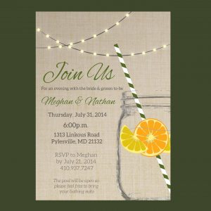 Rustic Chic Mason Jar Rehearsal Dinner Invitation